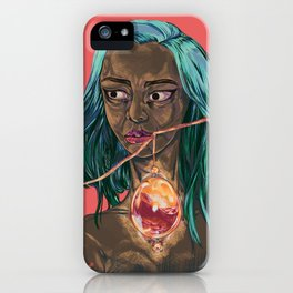 Blood Egg, Dark Skinned Vampire iPhone Case