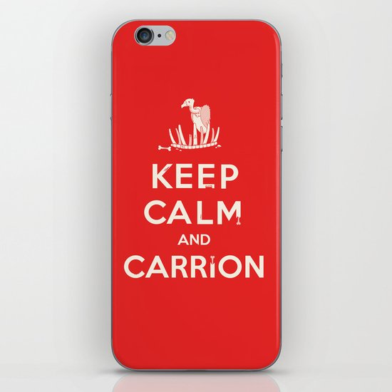 Keep calm and carrion iPhone & iPod Skin
