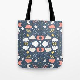 Fashion Weather Elements Pattern Art Tote Bag