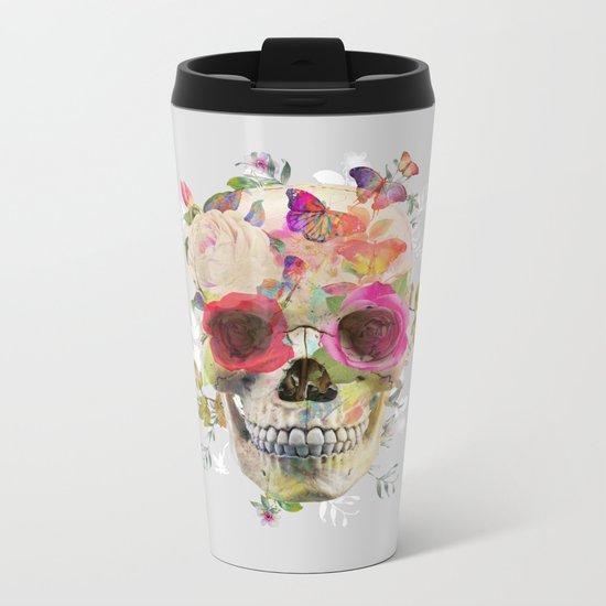 Skull II Metal Travel Mug