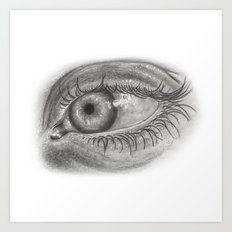 Pencil Eye Art Print