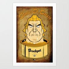 Brockpot Art Print