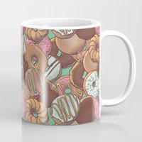 donuts Mugs featuring Donuts by Mario Zucca