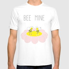 Bee Mine White MEDIUM Mens Fitted Tee