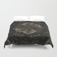 ornate Duvet Covers featuring Ornate Blossom by Charma Rose