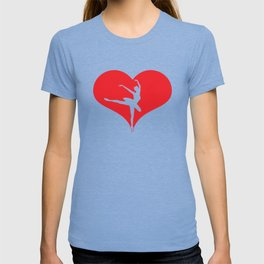 Live Love Ballet Heart Ballet Dance Ballerina T-shirt