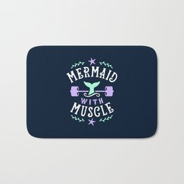 Mermaid With Muscle Bath Mat