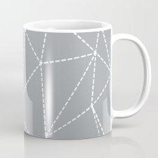 Abstract Dotted Lines Grey Mug