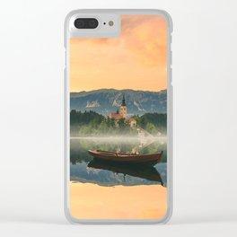 Golden Getaway Clear iPhone Case