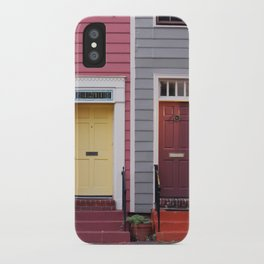 Pink and Grey and Yellow and Orange iPhone Case
