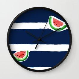 Seaside watermelon Wall Clock