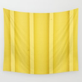 Urban Wood - Canary Yellow Wall Tapestry