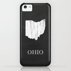 Ohio State Map Chalk Drawing iPhone 5c Slim Case