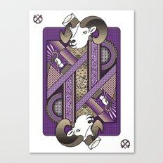 Ram Card. Canvas Print