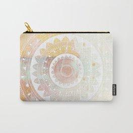 Ukatasana white mandala on pink Carry-All Pouch