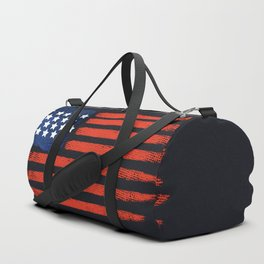 4th of July Brushed American Flag For Patriots Duffle Bag
