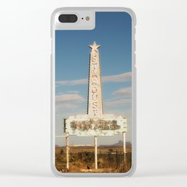 Stardust Motel - Marfa, Texas Clear iPhone Case