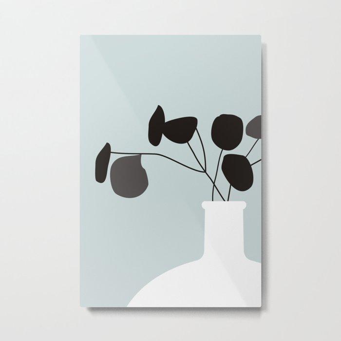 White Vase #society6 #decor #buyart Metal Print