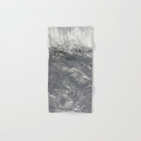 Roiling In Almost Black And White Hand Bath Towel By Jeffrey J Irwin Society6