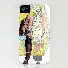native elephant iPhone (4, 4s) Slim Case