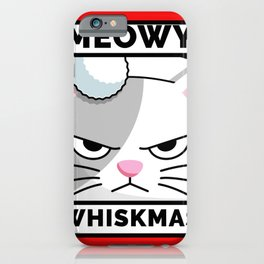 Meowy Whiskmas iPhone Case
