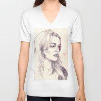 lilo and stitch V-neck T-shirts featuring Lilo by adria mercuri