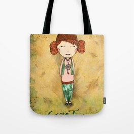 Green Tea Girl Tote Bag