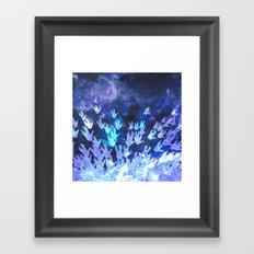 H.E.L.L.O. / blue Framed Art Print