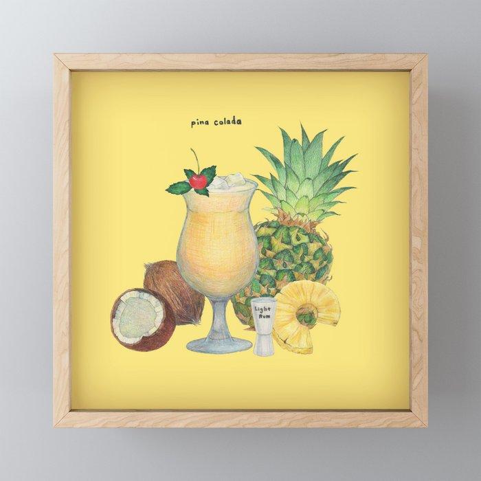 Pina Colada Framed Mini Art Print By Hahahacreative Society6