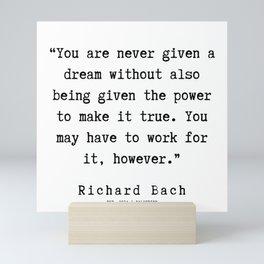 41  | Richard Bach Quotes | 190916 Mini Art Print