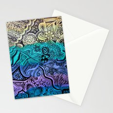 Watercolor Doodle Stationery Cards