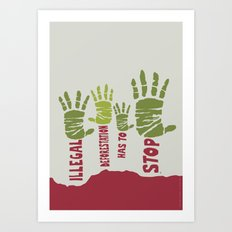 Deforestation has to stop Art Print