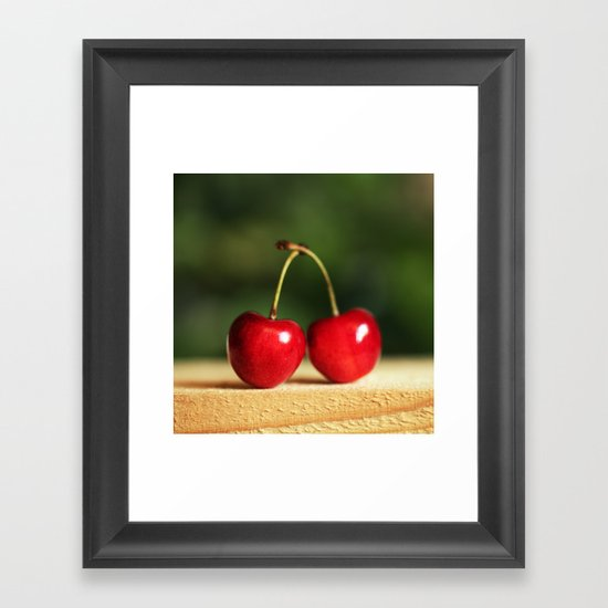 Sweet cherries Framed Art Print