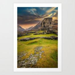 Dolbadarn Castle Snowdonia Wales Art Print