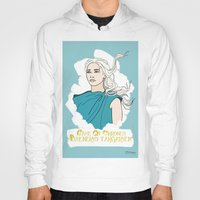 daenerys Hoodies featuring Danny by JessicaJaneIllustration