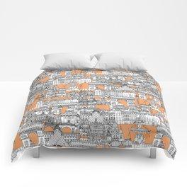 Paris toile cantaloupe Comforters