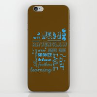 ravenclaw iPhone & iPod Skins featuring Ravenclaw by husavendaczek