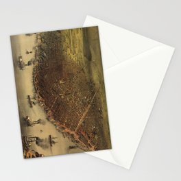 Vintage Pictorial Map of New Orleans (1885) Stationery Cards