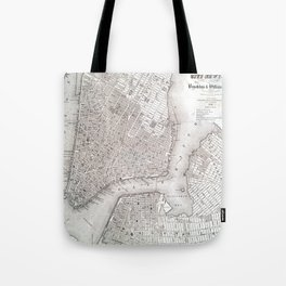 Vintage New York City Map Tote Bag