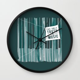 The Only Truth is Music Wall Clock