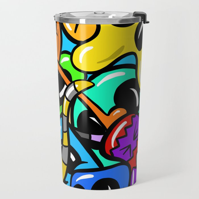 Alien Mad Imaginary Monsters Cartoon Travel Mug