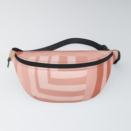 Painted Color Block Squares in Peach Fanny Pack
