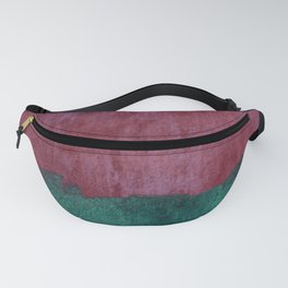 Abstract in raspberry red and ocean teal Fanny Pack
