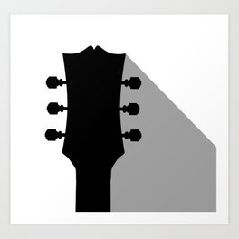 Guitar Headstock With Shadow Art Print