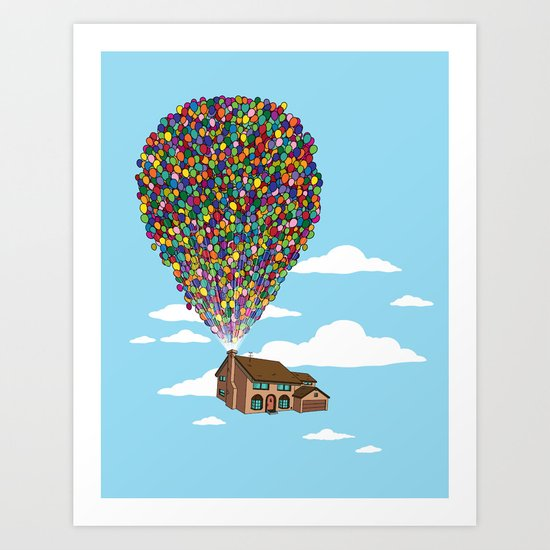 Up Over Springfield Art Print