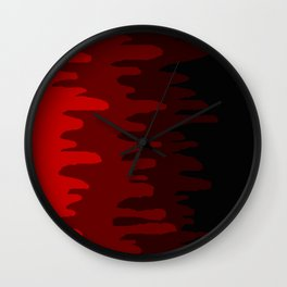 Splash of colour (red) Wall Clock