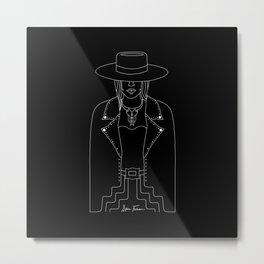 Lady Outlaw Metal Print