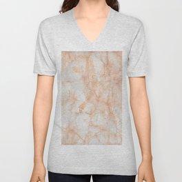 Paper Marble Texture Unisex V-Neck