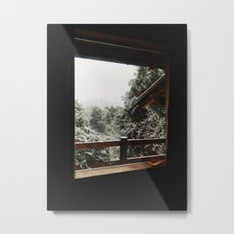 Snow from the house, Bariloche Metal Print