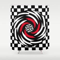 Checkered Meditation Shower Curtain
